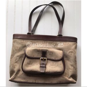 Dooney and Bourke Donegal Crest tote purse